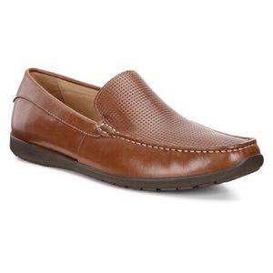 Ecco   Dallas Brown Slip-on Moccasin Loafers 46